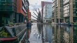 Fototapeta Londyn - Fan Bridge - Paddington Basin - London