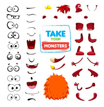 Vector Designer To Create Different Cute Monsters Emotions