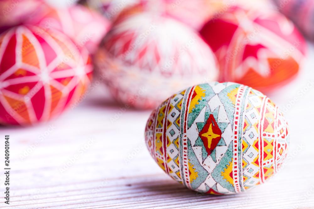 Fototapety, obrazy: Easter egg Pysanka