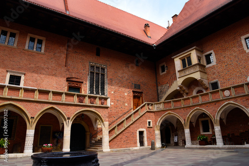 Fototapeta The Jagiellonian University in Krakow Poland. It was here that Copernicus discovered the earth moves around the sun. obraz