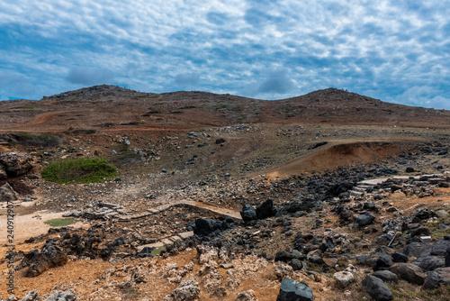 Fotografie, Obraz  Rocky Aruba Desert Landscape