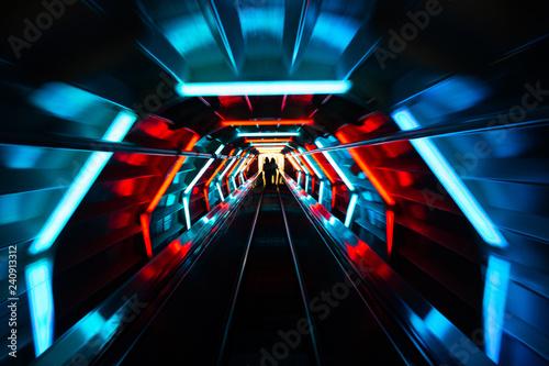 Atomium escalator Wallpaper Mural