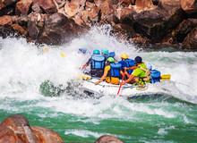 White Water Rafting In River Ganges Rishikesh India