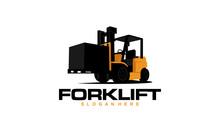 Forklift Logo Vector. Forklift Icon. Isolate Logo Design Template Element - Vector