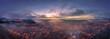 Nebel zum Sonnenuntergang und dem Beginn der blauen Stunde über der Schwäbischen Alb in Albstadt