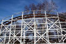 White Wooden Roller Coaster