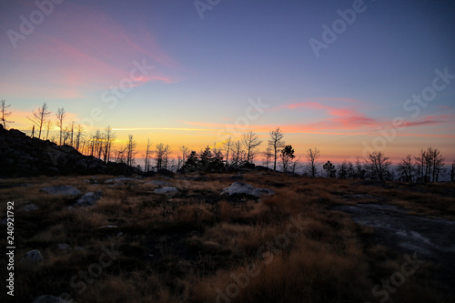 Sunset in the mountains Wallpaper Mural