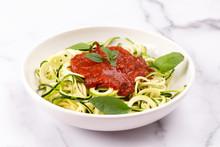Zucchini Pasta With Tomato Sau...