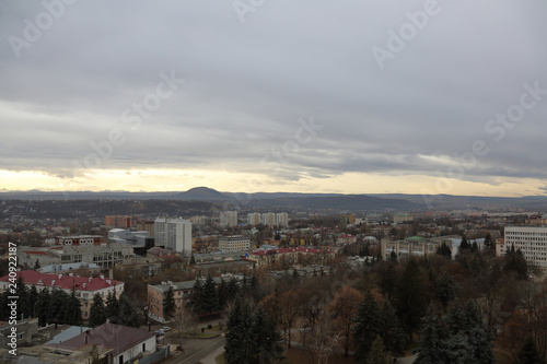 Garden Poster Napels Picturesque landscape of Pyatigorsk. Resort city in the Stavropol region of the Russian Federation
