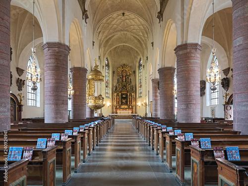 Fotografie, Obraz  Interior of Saint James's Church (Sankt Jacobs kyrka) in Stockholm, Sweden