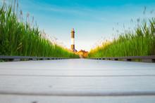 Path Leading To The Fire Island Lighthouse On Long Island NY