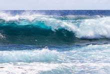 Wave Breaking Near Shore On So...