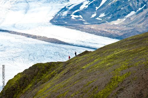 Wanderer im Skaftafell Nationalpark - Island Canvas Print
