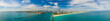 Premium wide angle panorama Miami Beach Florida landscape aerial photo