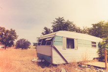 Vintage Broken Down RV Camper ...