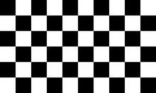 Black And White Checkered Seam...