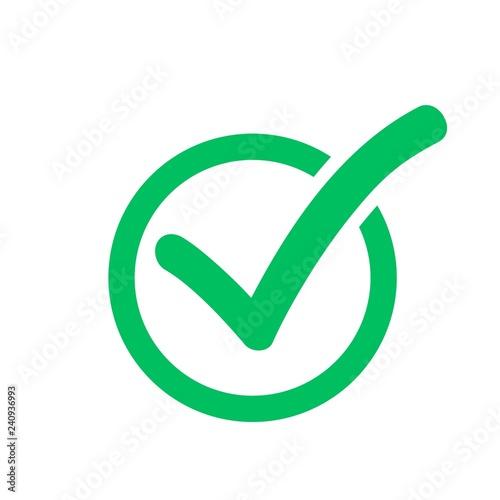 Fotografía  Check mark symbol, check box icon