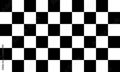 Fotografie, Obraz Black and white checkered seamless pattern