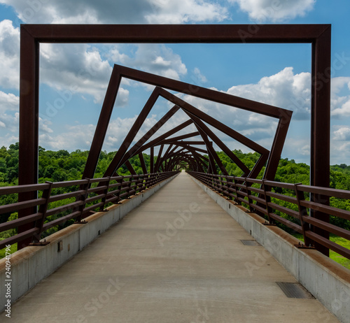 Fotografie, Tablou High Trestle Trail Bridge in Rural Iowa
