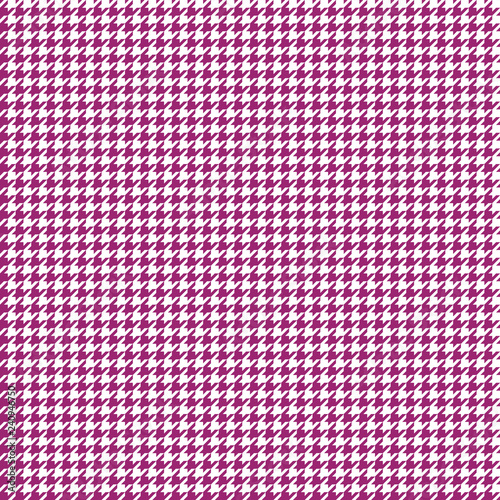 Houndstooth Seamless Pattern - Classic magenta pink and white houndstooth textur Canvas Print