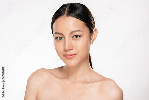 Fototapeta Beautiful Young asian Woman with Clean Fresh Skin obraz