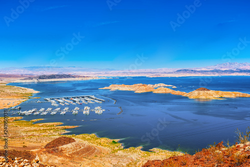 In de dag Verenigde Staten Lake Mead National Recreation Area.