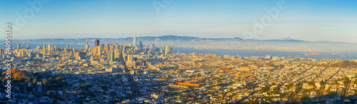 Fotobehang Centraal-Amerika Landen Panoramic view of the San Francisco city.