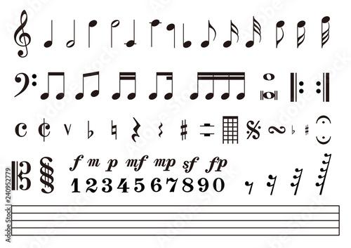 音符 楽譜 音楽記号 - 240952779