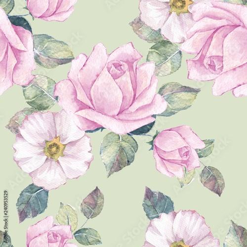 delikatne-rozowe-roze-akwarela-kwiatowy-wzor
