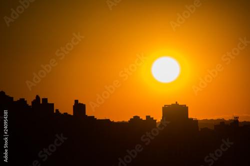 Fotografía  sunset in the neighborhood of freedom in belo horizonte