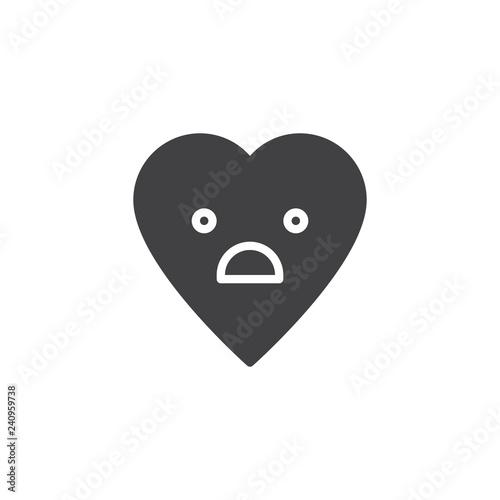 Fotografía  Fearful Face emoticon vector icon