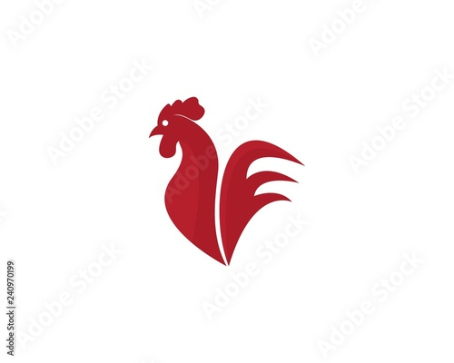 Rooster Logo Template vector illustration design Wallpaper Mural