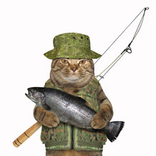 Cat Fisher Holds A Big Fish