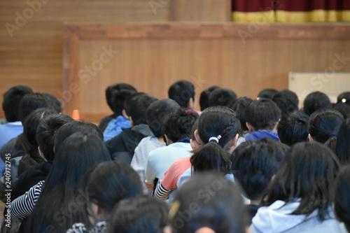 Fotografiet 小学校の全校集会