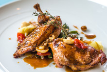 Grilled Poulet Creamy Mashed P...