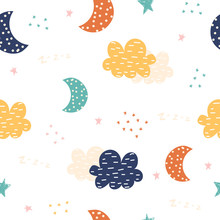 Cute Seamless Pattern With Nig...