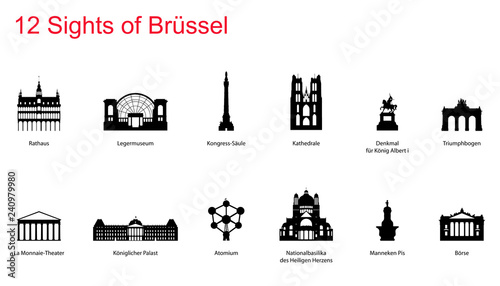 Brüssel Sights Canvas Print