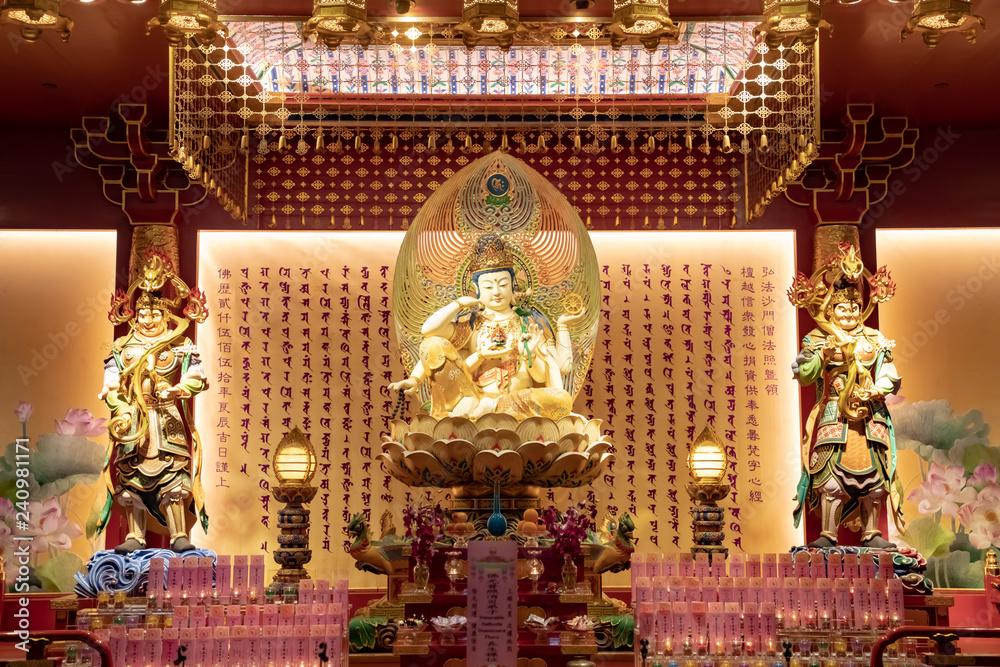 Fényképezés Chinese temple with gods
