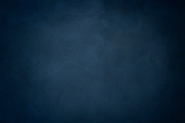 blue cement background, horizontal blank concrete wall