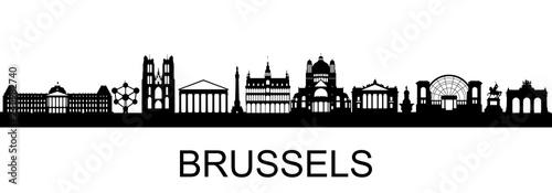 Brüssel Skyline Canvas Print
