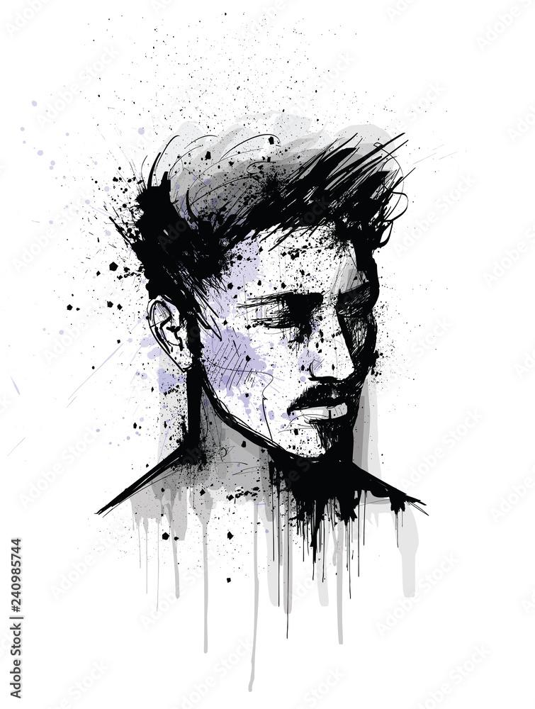 original portrait of a man face