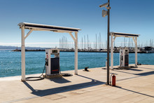 Gas-petrol Station Near Sea For Ship, Boats And Yachts In Split, Croatia