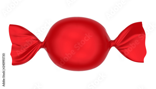 Foto op Plexiglas Snoepjes Red Candy Isolated