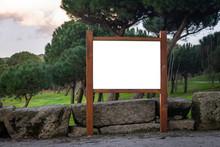 Wooden Advertisement Mockup