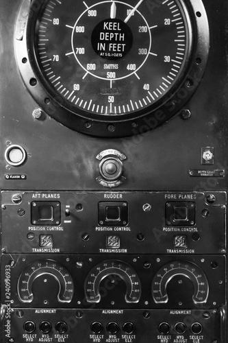 Submarine Interior - Depth Gauge - Buy this stock photo and