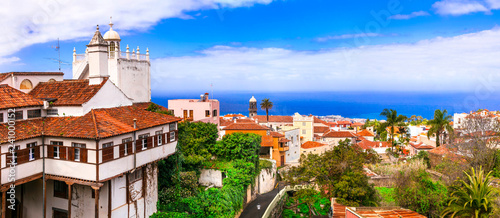 landmarks of Tenerife - traditional town La Orotava. canaray islands of Spain