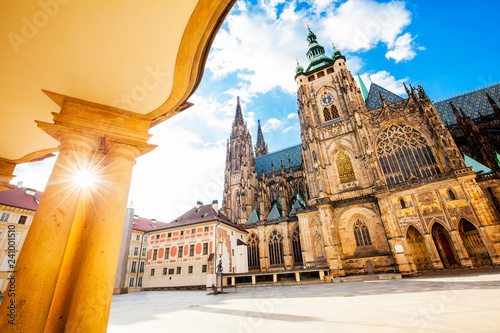 St. Vitus Cathedral in Prague, travel photo