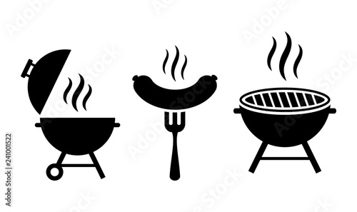 Foto Grill bbq vector icon set