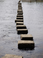 Stepping Stones Over River Air...