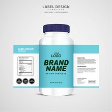 Bottle Label, Package Template...